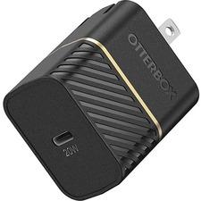 OtterBox USB-C Fast Charge Wall Charger, 20W - 120 V AC, 230 V AC Input - 5 V/3 A, 9 V Output - Black Shimmer