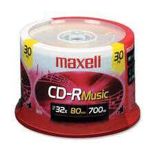 Maxell CD Recordable Media - CD-R - 32x - 700 MB - 30 Pack Spindle