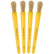 Crayola Jumbo Paint Brush - 2 Brush(es) Plastic Yellow Handle