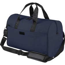 """bugatti Carrying Case (Duffel) Apple iPad Notebook - Navy - Water Proof Pocket - Polyester - Shoulder Strap, Trolley Strap - 11"""" (279.40 mm) Height x 19"""" (482.60 mm) Width x 8.50"""" (215.90 mm) Depth"""