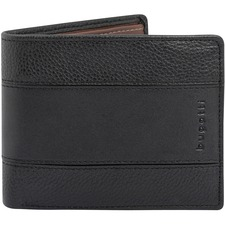 """bugatti Carrying Case (Wallet) Card - Black - Nappa Leather - 3.54"""" (90 mm) Height x 4.53"""" (115 mm) Width"""