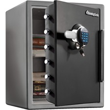 Sentry Safe Digital Fire/Water Safe - 56.63 L - Digital, Programmable, Dual Key Lock - 4 Live-locking Bolt(s) - Fire Proof, Water Resistant, Pry Resistant - for Tablet, Cell Phone, External Hard Drive, Memory Card, USB Drive, CD, DVD, Home, Office - Inter