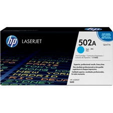 HP 502A Original Toner Cartridge - Single Pack - Laser - 4000 Pages - Cyan - 1 Each