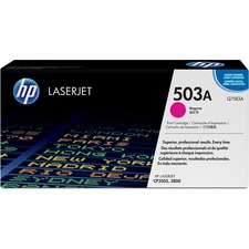 HP 503A Original Toner Cartridge - Single Pack - Laser - 6000 Pages - Magenta - 1 Each