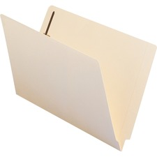 "Smead End-Tab Straight Cut File Folder with Fasteners - Legal - 8 1/2"" x 14"" Sheet Size - 3/4"" Expansion - 2 x 2B Fastener(s) - 2"" Fastener Capacity for Folder - Straight Tab Cut - 11 pt. Folder Thickness - Manila - Manila - Recycled - 50 / Box"