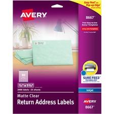AVE8667 - Avery&reg Matte Clear Easy Peel Address Labels