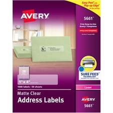 AVE 5661 Avery Easy Peel Return Address Labels AVE5661