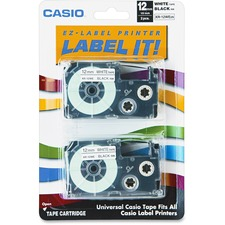 CSO XR12WE2S Casio Label Printer Tape Cartridge CSOXR12WE2S