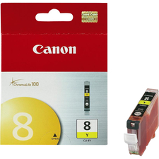 Canon CLI-8Y Original Ink Cartridge - Inkjet - Yellow - 1 Each