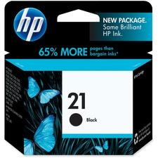HP 21 Original Ink Cartridge - Single Pack - Inkjet - 150 Pages - Black - 1 Each