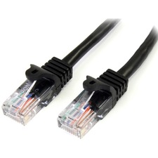 StarTech.com Snagless Cat5e UTP Patch Cable - RJ-45 (M) - RJ-45 (M) - 100 ft - UTP - ( CAT 5e ) - black