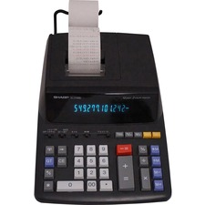 SHR EL2196BL Sharp EL-2196 12-digit Printing Calculator SHREL2196BL