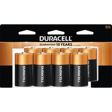 DUR MN13RT8Z Duracell Coppertop Alkaline D Batteries DURMN13RT8Z