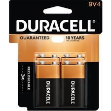 DUR MN16RT4Z Duracell Coppertop Alkaline 9-Volt Batteries DURMN16RT4Z