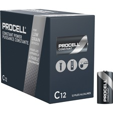 Duracell Procell Alkaline C Battery - PC1400 - For Multipurpose - C - 1.5 V DC - 7000 mAh - Alkaline - 12 / Box