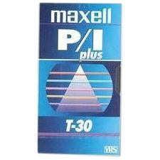 Maxell P/I PLUS VHS Videocassette