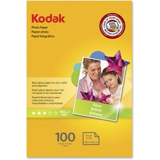 KOD 1743327 Kodak Basic Glossy 6.5 mil Photo Paper KOD1743327