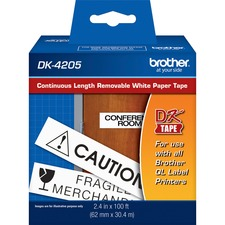 BRT DK4205 Brother Continuous Length White Film DK Tape BRTDK4205