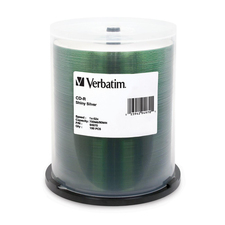 Verbatim CD-R Storage Media, 100 Pack