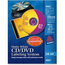 Avery Matte White Film DVD Labeling System