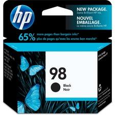 HP 98 Original Ink Cartridge - Single Pack - Inkjet - 400 Pages - Black - 1 Each