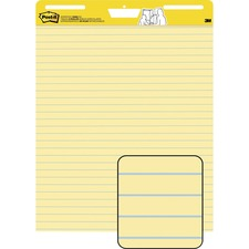 MMM 561 3M Post-it Faint Rule Yellow Paper Easel Pads MMM561