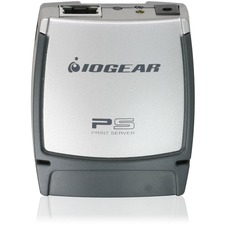 IOGEAR GPSU21 Print Server - 1 x 10/100Base-TX Network, 1 x USB 2.0 - 100Mbps