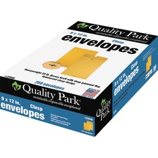 QUA 37590 Quality Park Clasp Envelopes w/ Dispenser QUA37590