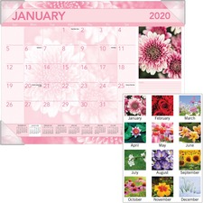 AAGDMD13532 - At-A-Glance Antique Floral Monthly Desk Pad