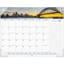 AAG DMD14532 At-A-Glance Harbor Views Monthly Desk Pad AAGDMD14532