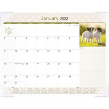 AAG DMD16632 At-A-Glance Puppies Monthly Desk Pad AAGDMD16632