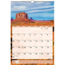 AAGDMW20128 - At-A-Glance Scenic Monthly Wall Calendar