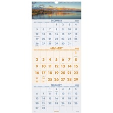 AAGDMW50328 - At-A-Glance Scenic Design 3-month Wall Calendar