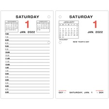 AAGE01750 - At-A-Glance Daily Two-Color Desk Calendar Refill with tabs
