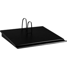 "At-A-Glance 17-Style Loose Leaf Desk Calendar Base - Support 3.50"" (88.90 mm) x 6.50"" (165.10 mm) Media - Plastic - Black"