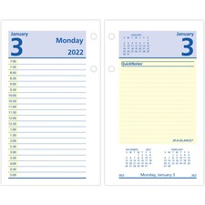 AAG E51750 AT-A-GLANCE QuickNotes Daily Desk Calendar Refill AAGE51750