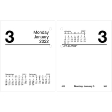 AAGE91950 - At-A-Glance Compact Daily Desk Calendar Refill with Tabs