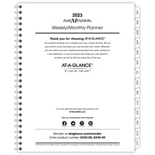 AAGG54550 - At-A-Glance Weekly/Monthly Planner Refill