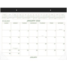 AAG GG250000 At-A-Glance Recycled 2-Color Desk Pad Calendars AAGGG250000