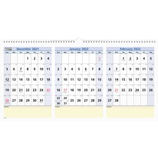 AAGPM1528 - At-A-Glance QuickNotes 3-Month Horizontal Wall Calendar
