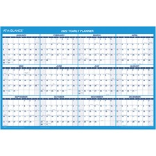 AAGPM20028 - At-A-Glance Erasable Yearly Wall Planner