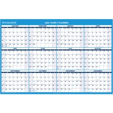 AAGPM30028 - At-A-Glance Jumbo Erasable Yearly Wall Planner