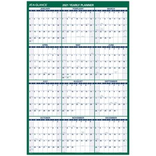 AAGPM31028 - At-A-Glance Jumbo Erasable Yearly Wall Planner