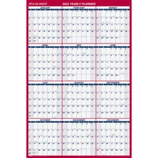 AAGPM32628 - At-A-Glance Jumbo Erasable/Reversible Yearly Wall Planner