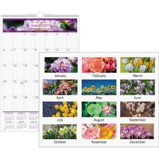 AAGPM4428 - At-A-Glance Floral Monthly Wall Calendar