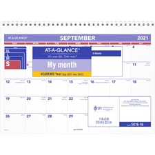 AAG SK1616 At-A-Glance 16-Month Desk/Wall Calendar AAGSK1616
