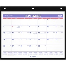 AAGSK700 - At-A-Glance Academic Monthly Desk/Wall Calendar with Poly Holder