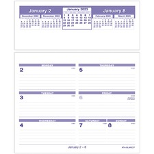 AAG SW705X50 At-A-Glance Flip-A-Week Desk Calendar Refill AAGSW705X50