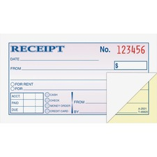 ABF DC2501 Adams Money/rent Receipt Books ABFDC2501