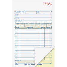 ABFDC4705 - Adams Carbonless 2-part Numbered Sales Order Books